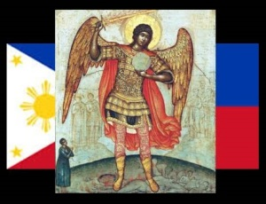 Prayer Petition for the Philippines to Saint Michael the Archangel.  Arise o Great Prince of the Heavenly Host, we beseech Thee, protect the Catholic Church in the Philippines against the snares and plans of Her enemies.   O Great Commander of God's heavenly forces, strike Thy enemies we beg of Thee.  Put fear upon the hearts of them the false preachers  that they may fear Our Lord and God Jesus Christ, Our Blessed Mother and Queen Mary, and their one and only Catholic Church.  May the ground tremble by your God given power, may the edifices they built to glorify their idol, which they use to boast against the Power and Authority of the One and Only True Church  fall upon them and their wickedness. May the ground open up to swallow them and their lies that their evil works may finally end, and together with it may also end the persecution against  Our Holy Mother Church.  Free our nation from all false religions O Faithful One of God we petition Thee. These we ask for the sake of the Catholic Church in the Philippines who suffers so much  on account of the enumerable diabolic attacks from within and from without.  O Great Defender of Mary Our Queen, The Church, and of our True Faith, arise for us Your Little Ones!